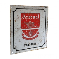 Arsenal Londyn - znak metalowy retro