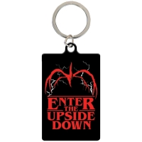 Stranger Things - breloczek metalowy Upside Down