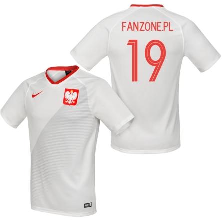 Polska replika nowej koszulki reprezentacji Polski 2018 2019 biała (NIKE) z nadrukiem