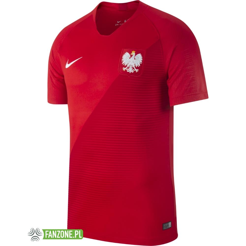 Polska dziecięca koszulka reprezentacji Polski 2018 2019 czerwona (NIKE)